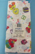 Sesame Street You're 1 Birthday Party Tablecover Tablecloth White Yellow Plastic - $13.95