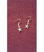 Metal Star Rockabilly Gothabilly Earrings made with Nickel Free hooks - $5.40