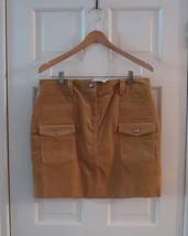 NWT J.Crew Women's Beige Tan Corduroy Skirt STRETCH ~ Sz 10 - $24.75