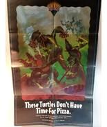 RARE VINTAGE 1991 TEENAGE MUTANT NINJA TURTLES PIN UP POSTER TMNT mirage... - $50.00