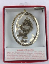 Nations Treasures Homer Spit Alaska Info Card 24K Brass Metal Ornament Souvenir - $20.00
