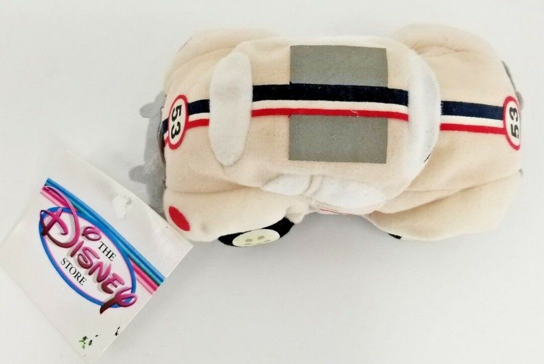 Disney Store Plush Beanie HERBIE The LOVE BUG 53 Beetle Car Disney Store Tag image 2