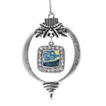 Inspired Silver Starry Night Classic Holiday Decoration Christmas Tree Ornament - $14.69