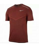Nike Men's Techknit Ultra Running Shirt Red Slim Fit Performance Large A... - $46.95