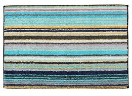 Missoni Jazel Striped Bath Rug, color 170 Blue Green - £261.78 GBP