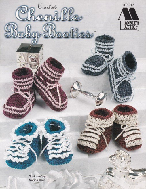 Primary image for Chenille Baby Booties Crochet Ruffles Warmth Cute Babies Multiple Sizes Matching