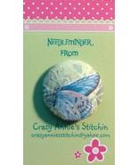 Purple Butterfly Needleminder fabric cross stit... - $7.00