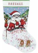 Design Works Skiing Santa Snow Skier Christmas Cross Stitch Stocking Kit 6856 - $29.95