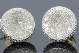 Round Cut White CZ 14k Yellow Gold Plated 925 Silver Women's Fancy Stud Earrings - $138.36