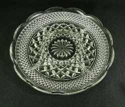 """Vtg Anchor Hocking Clear Glass Divided Relish Tray 5 Sections Wexford 11"""" - $14.84"""