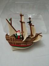 Hallmark Keepsake Santa Maria Santa Sailing Ship 1992 Ornament - $12.25