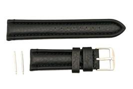 Luminox-Modern Mariner 6251/6501 24mm-Black-Leather Watch Band Strap Red... - $71.95