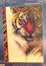 Janlynn Tiger Counted Cross Stitch Kit Cat Animal Designs For Needle #013-0333 - $16.80