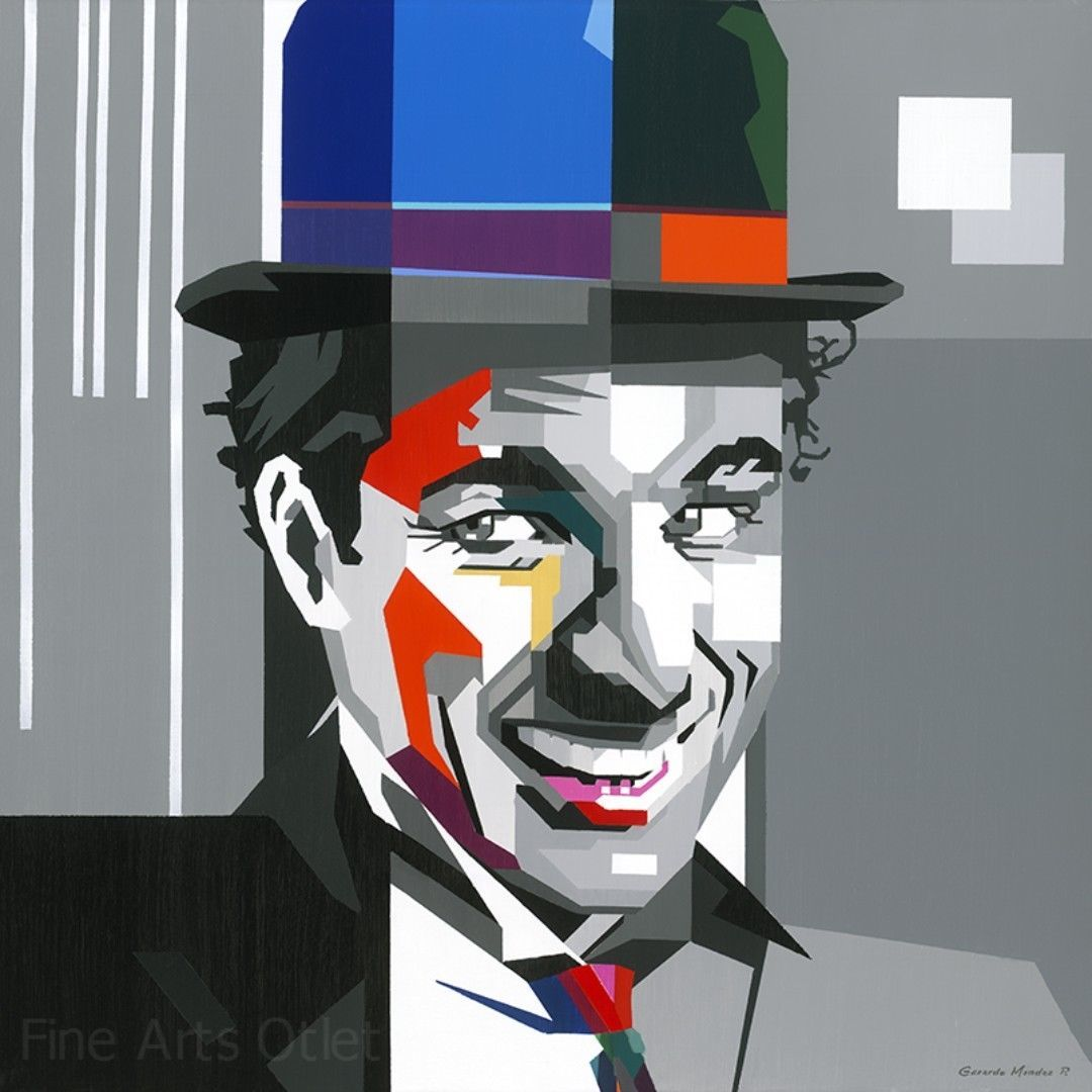 Primary image for Charlie Chaplin Painting by Gerardo Mendez Patricio
