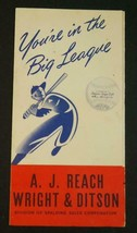 1947 A.J. Reach & Ditson (Spalding) You're in the Big League Baseball Br... - $33.66