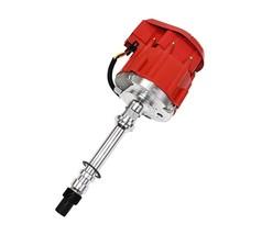 Marine HEI Electronic Distributor 65K Coil 350 454 Chevy V8 Mercruiser OMC Red image 2