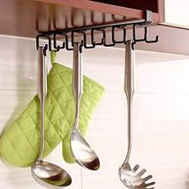 12-Hook Iron Under Cabinet Mug Hanger Brown image 9