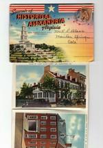 SOUVENIR LINEN PHOTO FOLDER-HISTORICAL ALEXANDRIA. VIRGINIA 18 PHOTOS BK20 - $3.43