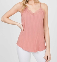 Mauve Lace Camisole Top, Lace Trim Camisole, Camisole Tops, Colbert Clothing