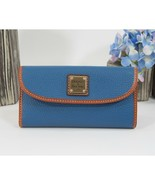 Dooney and Bourke Persian Blue Pebbled Leather Trifold Wallet NWT - $108.41