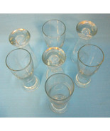 "Beer Glasses Mini Shot Tumbler Glassware Crystal Clear Lot Of 7 4.5"" Tall - $27.99"
