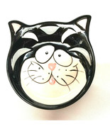Whisker City Cat Plate Bowl Saucer Food Water Whimisical Hand Painted  - $11.88