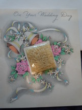 Vintage On Your Wedding Day With Rice McKenzie Greetings Used - $25.99