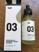 Way of Will 03 Soothe and Cool Peppermint + German Chamomile massage oil... - $21.77