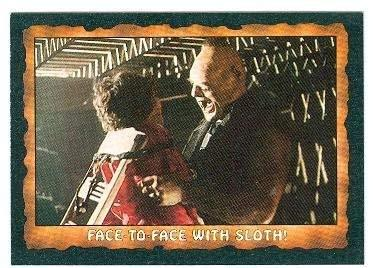 The Goonies trading card 1985 Topps #27 Face to Face with Sloth Chunk