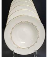 Four Royal Doulton Rondo Pattern Rimmed Soup Bowls - $11.40