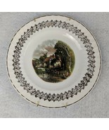 """Debonair Pottery Ironstone Ware Cottage Plate Made in England 8"""" - $16.82"""
