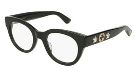 BRAND NEW GUCCI GG0209O 001 BLACK/CRYSTALS AUTHENTIC EYEGLASSES FRAME 48-21 - $341.28