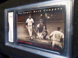 1994 Upper Deck Reggie Jackson GMA Graded 7 NM baseball card number 9 - $7.75