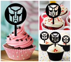 Ca394 Decorations cupcake toppers transformers Silhouette Package : 10 pcs - $10.00