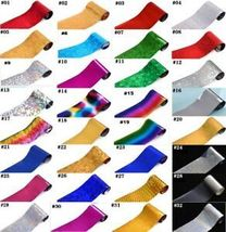 60 Colors Nail Art Tips Wraps Transfer Foil A* US SELLER * BUY2GET1FREE image 12
