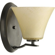 Bravo 1-Light Antique Bronze Bell Vanity Light - $13.74