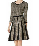 Nine West Fit And Flare Metallic Sweater Dress SIZE XL - £22.26 GBP