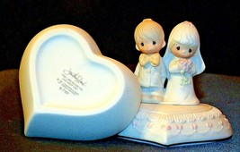1981 Precious Moments E-7167 Jewelry Box 2 Pieces AA-191820 Vintage Collectibl image 2