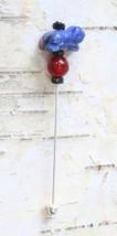 Judy Strobel Enchanting Carved Sodalite  & Carnelian Frog Stick Pin - $19.95