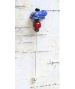 Judy Strobel Enchanting Carved Sodalite  & Carnelian Frog Stick Pin - $19.95
