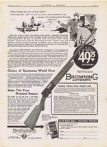 1931 Browning 12 & 16 Gauge Automatic Shotgun Print Ad - $9.99