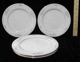 "Salad Lunch Plates Noritake Legendary Tarkington Set 4 Pink Floral 3695 8 1/4"" - $15.83"