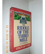 The Riddle of the Third Mile Dexter, Colin - $6.26