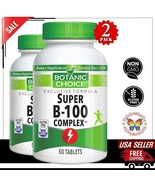 2x Super B-100 Complex 1000mg B12 Energy Red Blood Cell Heart Supplement... - $30.68