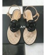 NIB 100% AUTH Chanel 17B Camellia Thong Sandals G33163 $725 - $498.00