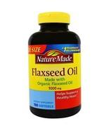 Nature Made Organic Flaxseed Oil 1000mg, Omega 3-6-9, 180 Softgels. New.... - $23.65