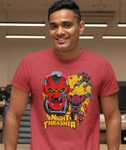 Night Thrasher Graphic T Shirt Marvel Comics New Warriors retro red cotton tee image 3