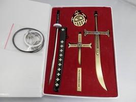 Anime One Piece Zoro Knife Buckle With Scabbard Sword Weapon Keychain Th... - $29.80