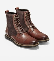 Cole Haan Original Grand Men Cap Toe Boot Size US 9M Brown Black Leather... - $124.94
