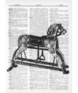 Antique Toy Rocking Horse Fun Dictionary Art Print   fun002 - $10.99
